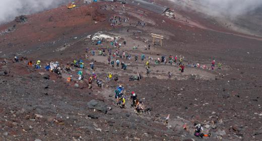 L'état de congestion du mont Fuji sera prochainement disponibles sur les smartphones
